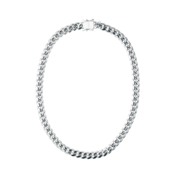 CUBAN CHAIN NECKLACE SILVER