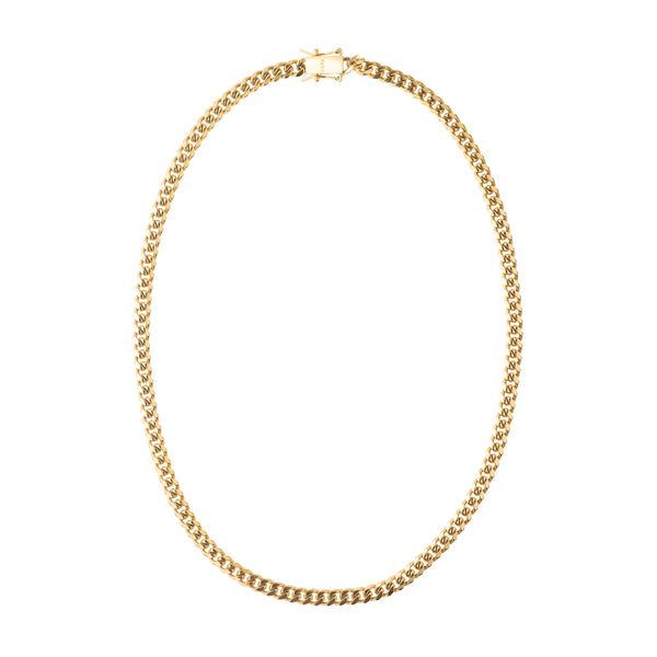 CUBAN CHAIN NECKLACE THIN GOLD