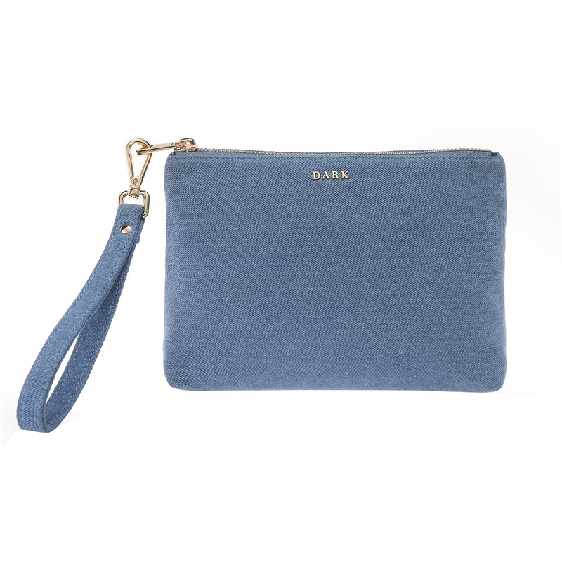 DENIM STANDING POUCH LIGHT DENIM