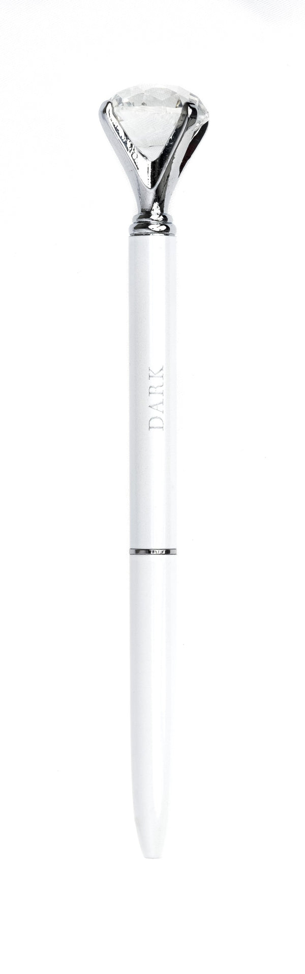 DIAMOND PEN WHITE W/SILVER