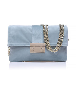 VELVET LOVE BAG DUSTY BLUE