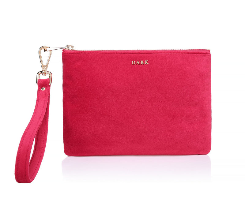 VELVET POUCH SMALL RED