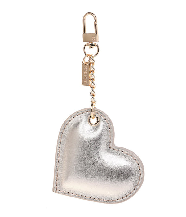 LEATHER HEART CHARM GOLD