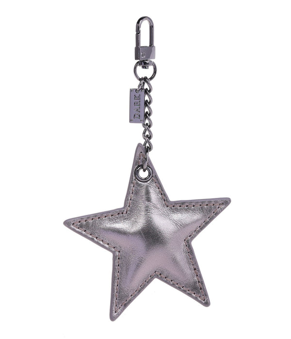LEATHER STAR CHARM GUN METAL