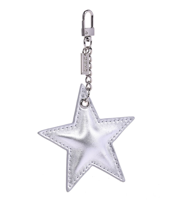 LEATHER STAR CHARM SILVER
