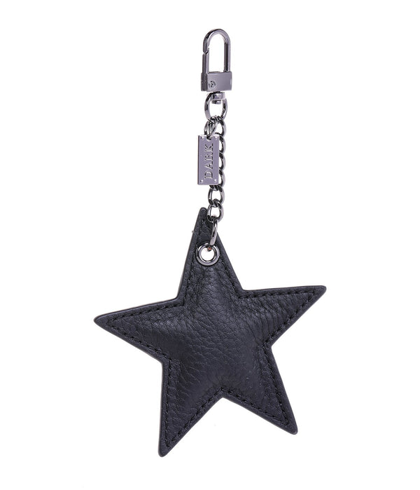 LEATHER STAR CHARM BLACK W/GUNMETAL