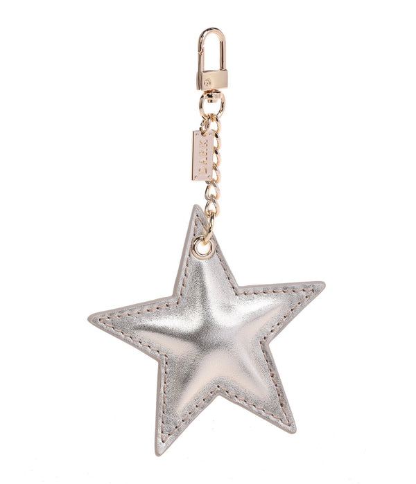 LEATHER STAR CHARM GOLD