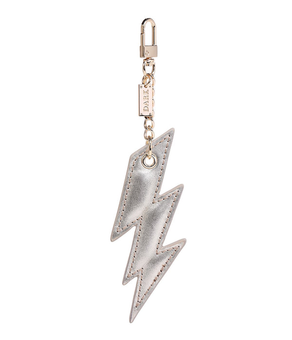 LEATHER LIGHTNING CHARM GOLD