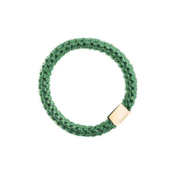 FAT HAIR TIE APPLE W. GOLD PLATE