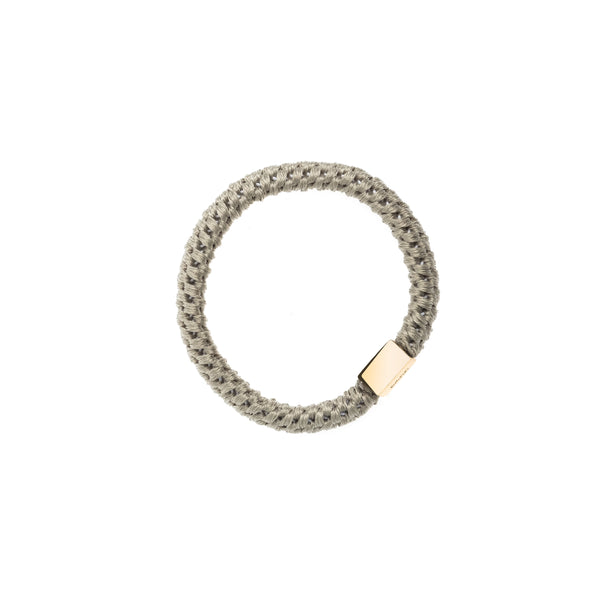 FAT HAIR TIE FADED ARMY W/GOLD