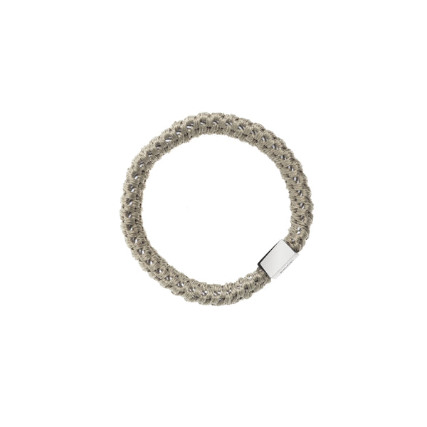 FAT HAIR TIE FADED ARMY W/SILVER