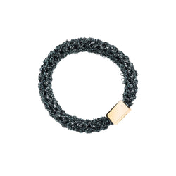 FAT HAIR TIE SPARKLED MALLARD W/GOLD