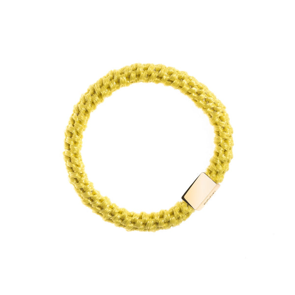 FAT HAIR TIE SPARKLED YELLOW W/GOLD