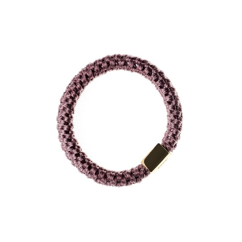 FAT HAIR TIE DUSTY GRAPE W/GOLD