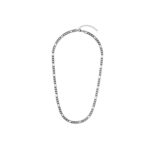 FIGARO NECKLACE EXTRA THIN SILVER 55 CM