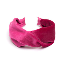 VELVET HAIR BAND FOLDED WILDBERRY