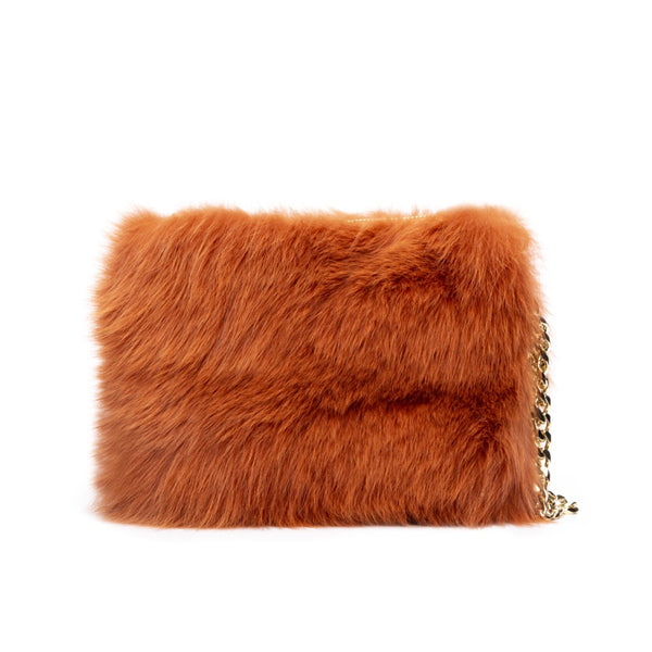 FOX FUR BAG COPPER