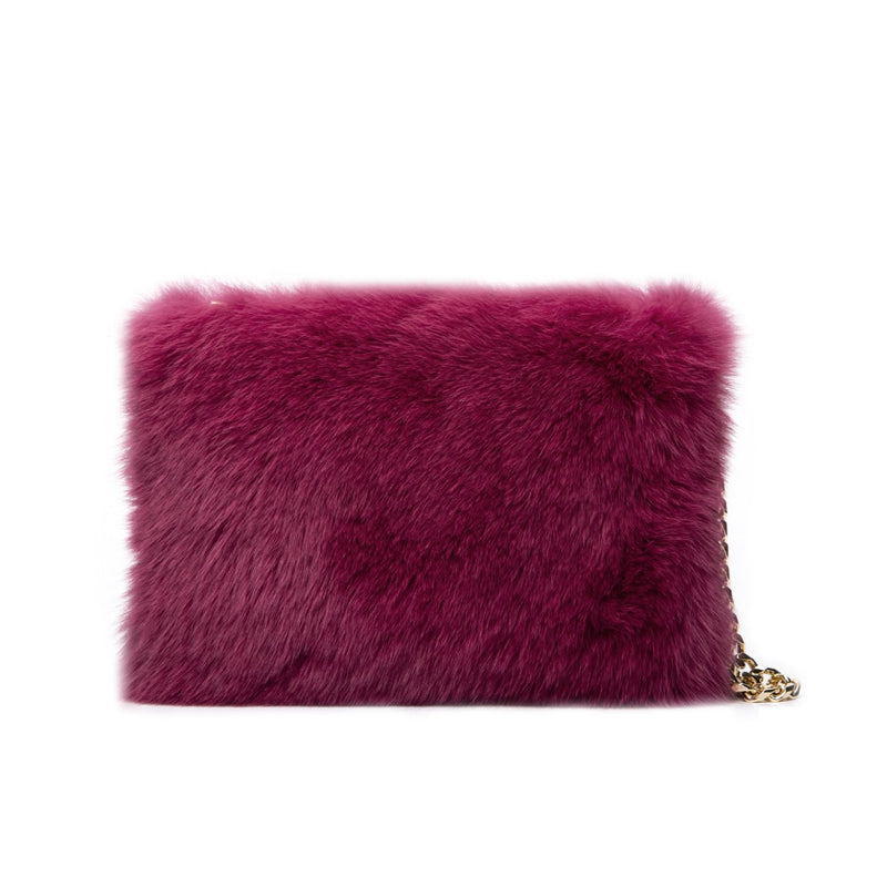 FOX FUR POUCH WILDBERRY