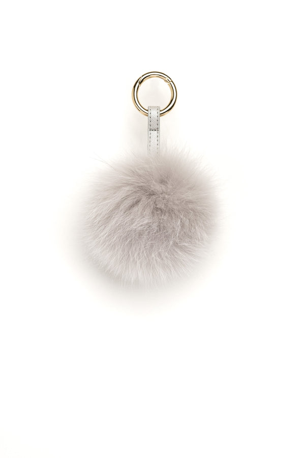 POM POM FOX LIGHT GREY