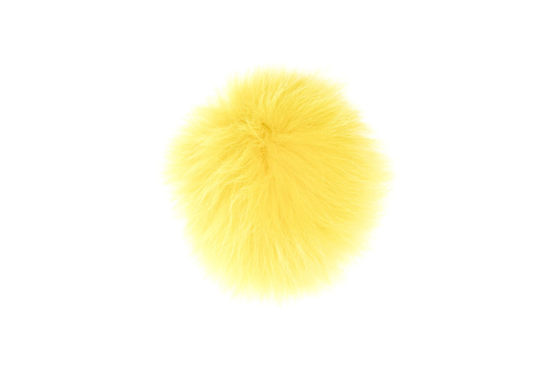 SHOE POM POM SUMMER YELLOW LARGE