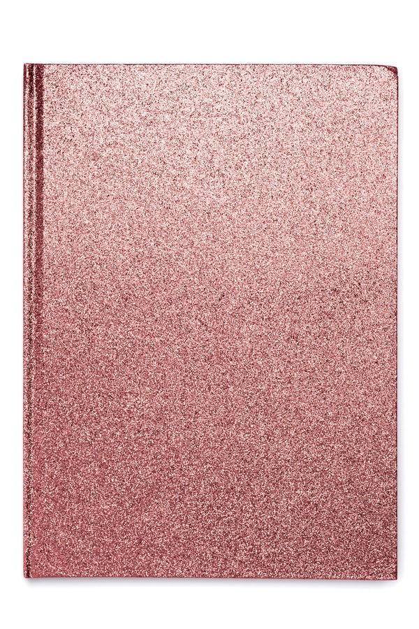 GLITTER NOTEBOOK A4 CANDY PINK