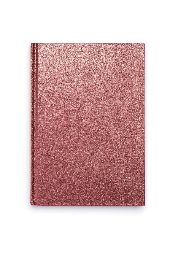 GLITTER NOTEBOOK A5 CANDY PINK