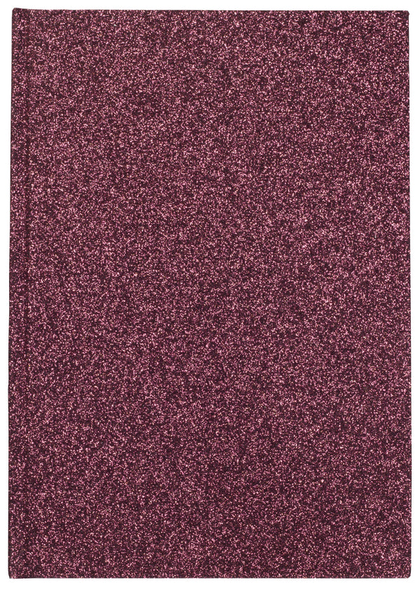 GLITTER NOTEBOOK A5 WINE