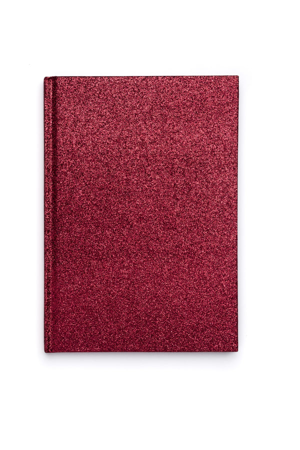 GLITTER NOTEBOOK A5 RED