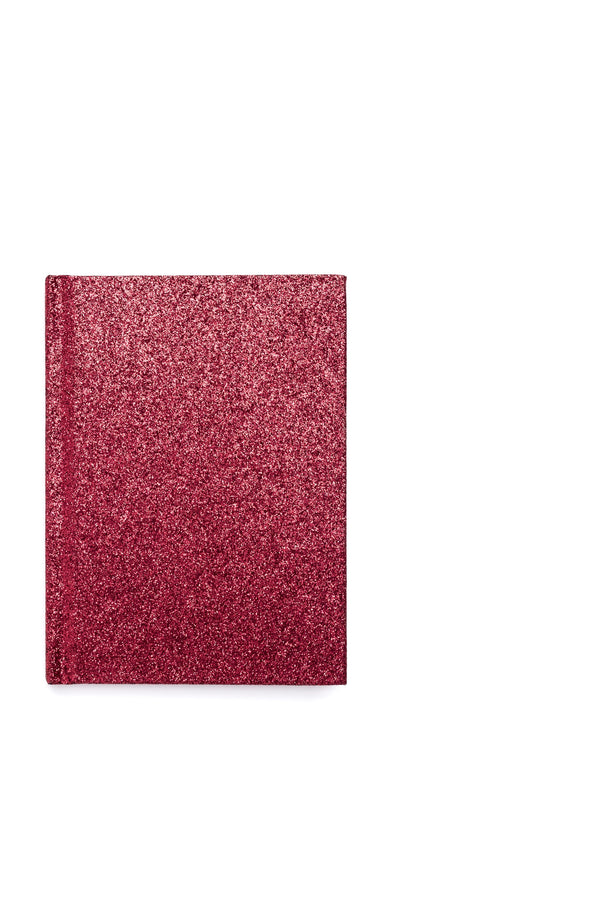 GLITTER NOTEBOOK A6 RED
