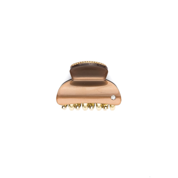 HAIR CLAW SMALL COGNAC