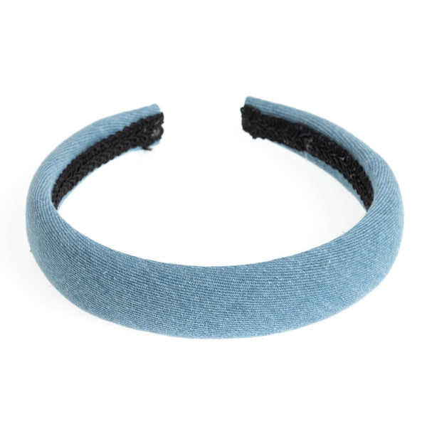 DENIM HAIR BAND BROAD LIGHT DENIM