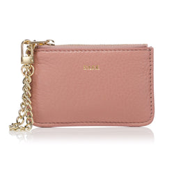 LEATHER COIN POUCH ROSE
