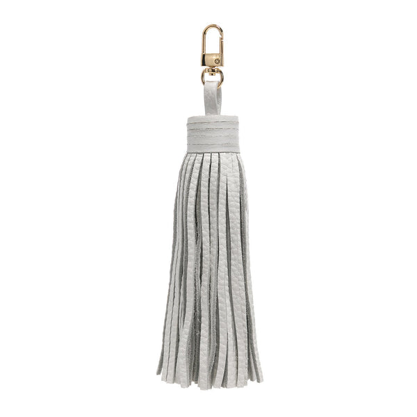 LEATHER TASSEL WHITE