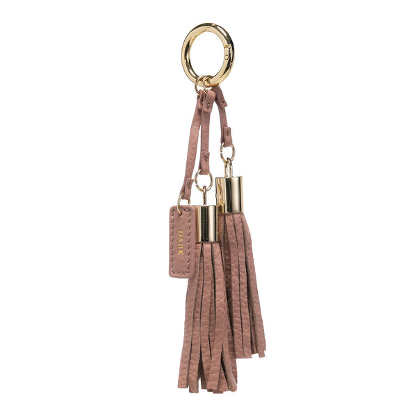 LEATHER TWIN TASSEL ROSE