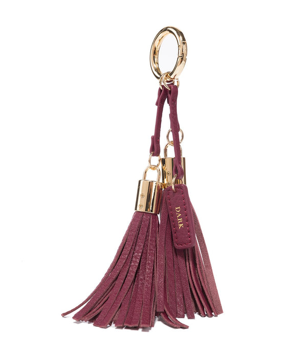 LEATHER TWIN TASSEL WINE