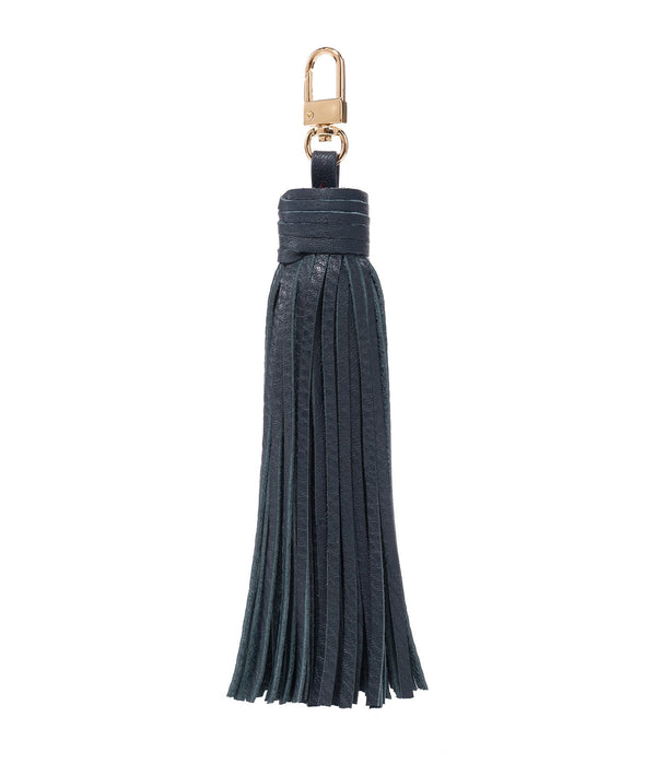 LEATHER TASSEL NAVY BLUE