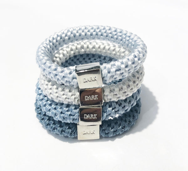 FAT HAIR TIES 4 PK COMBO COOL BLUES