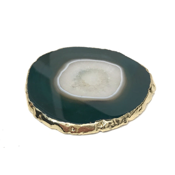AGATE COASTER GREEN