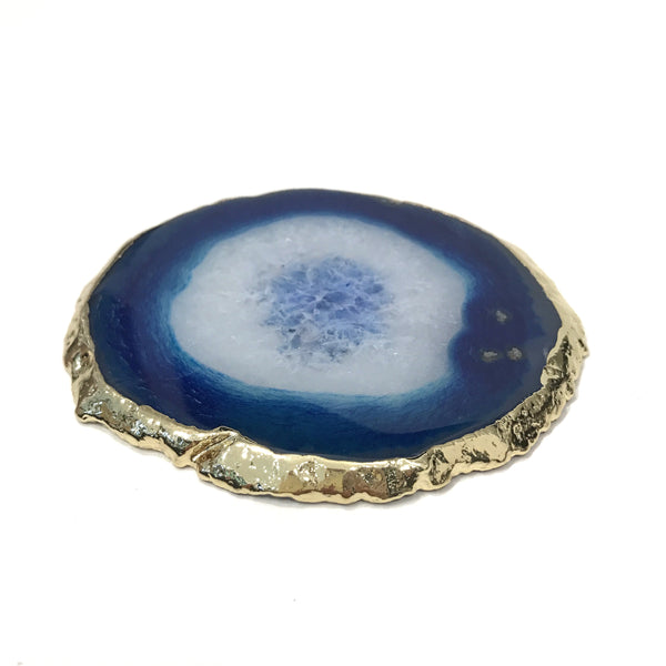 AGATE COASTER BLUE