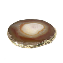 AGATE COASTER LIGHT BROWN