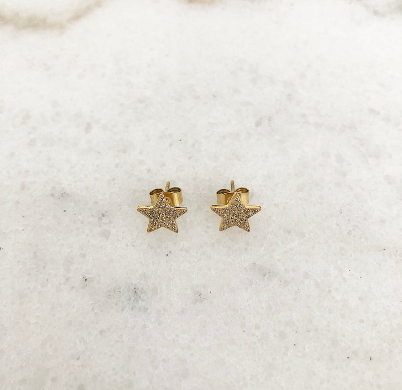STAR STUD CRYSTAL GOLD