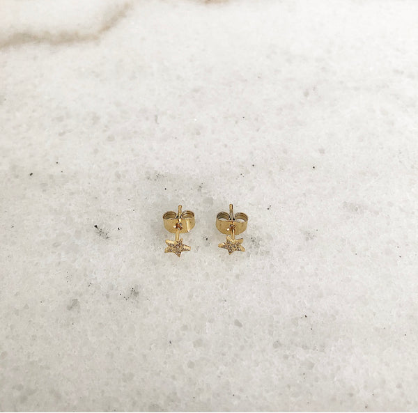 STAR STUD CRYSTAL MINI GOLD