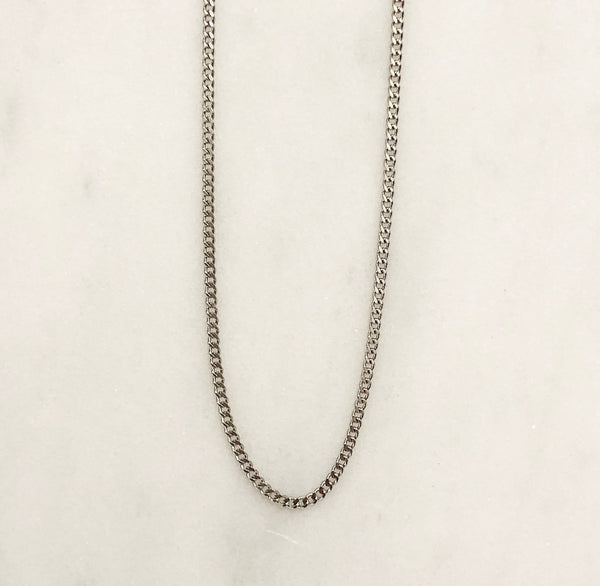 PLAIN CHAIN NECKLACE SILVER