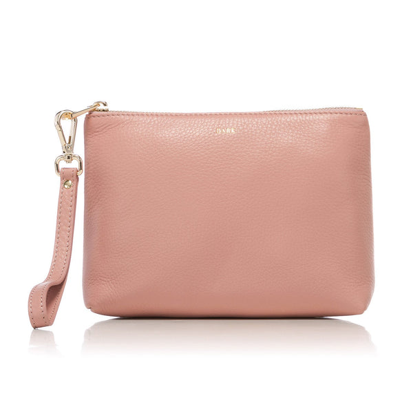 LEATHER STANDING POUCH ROSE