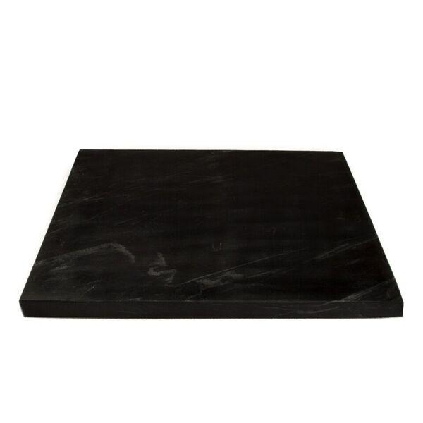 MARBLE PLATE L BLACK