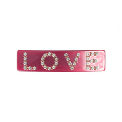 LOVE HAIR CLIP LARGE BERRY