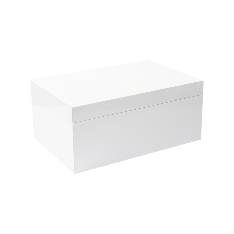 LACQUER JEWELLERY BOX WHITE
