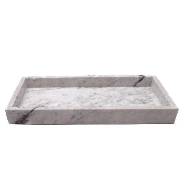 MARBLE TRAY L WHITE