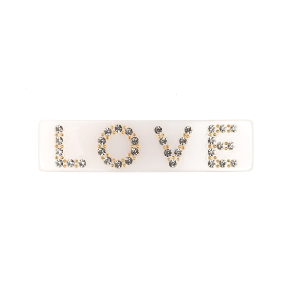 LOVE HAIR CLIP LARGE WHITE