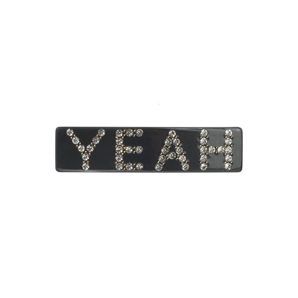 YEAH HAIR CLIP LARGE CHARCOAL